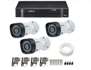 Kit 3 cameras Intelbras - completo